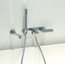 Mitigeur pour baignoire / à encastrer / en métal chromé / en laiton