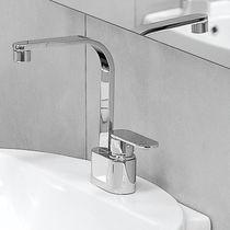 Mitigeur pour vasque / en métal chromé / en laiton / 2 trous