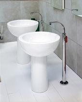 Mitigeur pour vasque / au sol / en métal chromé / en laiton