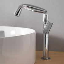 Mitigeur pour vasque / en métal chromé / en laiton / 1 trou