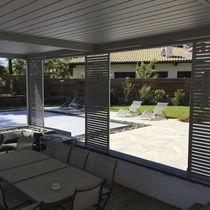 Panneau de protection solaire en aluminium / en inox / pour façade / pour abri