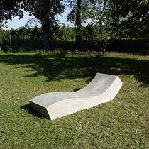 Bain de soleil contemporain / en ciment / de jardin / de terrasse