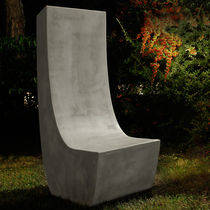 Chaise contemporaine / en ciment / de jardin