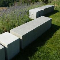 Banc de jardin / contemporain / en béton