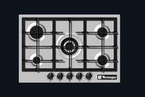 Table de cuisson à gaz / avec gril / en fonte / wok