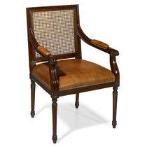Chaise de bureau de style français / avec accoudoirs / tapissée / en tissu