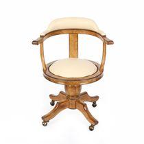 Chaise de bureau classique / avec accoudoirs / tapissée / à roulettes