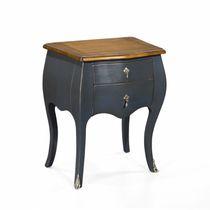 Table de chevet de style français / en chêne / en acajou / en cuir