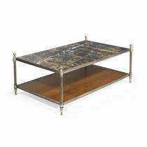 Table basse contemporaine / en verre / en marbre / en chêne