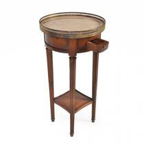 Table d'appoint classique / en verre / en cuir / en marbre