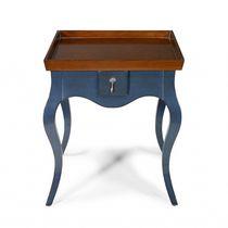 Table d'appoint classique / en cuir / en pierre / en chêne