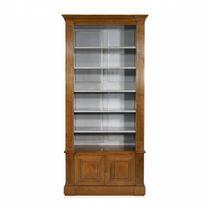 Bibliothèque classique / en chêne / en acajou / vitrée