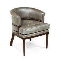 Chaise classique / tapissée / en tissu / en chêne