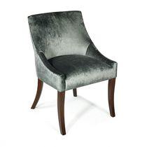 Chaise de salle à manger contemporaine / tapissée / en tissu / en cuir