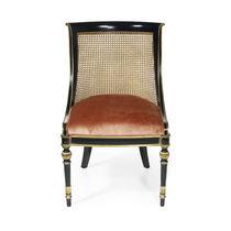 Chaise de style français / tapissée / en tissu / en chêne
