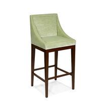 Chaise de bar classique / tapissée / avec repose-pieds / en tissu