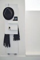 Sèche-serviettes à eau chaude / électrique / en aluminium / design original