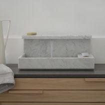 Vasque à poser / rectangulaire / en marbre / design original