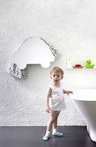 Sèche-serviettes électrique / accumulateur / en métal / contemporain