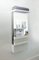 Sèche-serviettes électrique / accumulateur / en verre / design