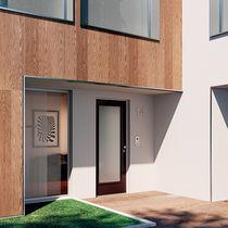 Porte d'entrée / battante / en bois / en verre