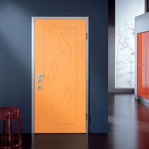 Porte d'entrée / battante / en bois / de sécurité