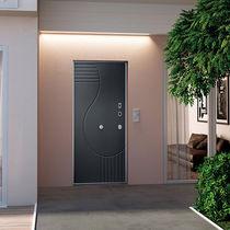 Porte d'entrée / battante / en acier / de sécurité