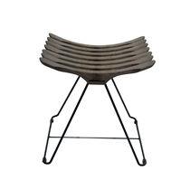 Tabouret contemporain / en bois / en acier / luge