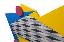 Canapé design original / d'extérieur / en bois / en polyéthylène