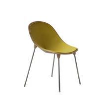 Chaise contemporaine / en feutre / tapissée
