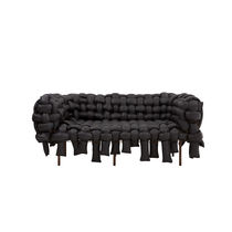 Canapé design original / en tissu / 3 places / noir