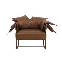 Fauteuil en cuir / luge / contemporain