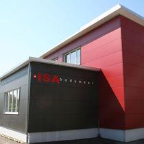 Bardage pour façade ventilée / en fibre de bois / lisse / en panneaux