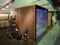 Bardage en fibre de bois / perforé / en panneaux / décoratif