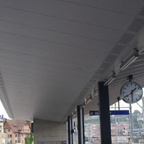 Panneau acoustique perforé / pour faux-plafond / en fibre de bois / professionnel