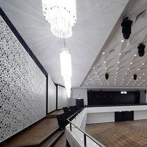 Panneau acoustique pour mur intérieur / MDF / perforé / design
