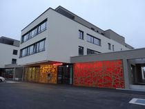 Panneau décoratif en HPL / pour aménagement extérieur / mural / rétroéclairé