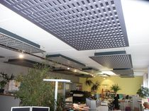 Panneau acoustique pour faux-plafond / en fibre de bois / décoratif / perforé