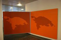 Panneau acoustique mural / pour cloison / MDF / décoratif