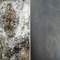 Panneau décoratif de revêtement / en pierre naturelle / mural / pour agencement intérieur