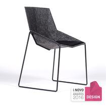 Chaise visiteur contemporaine / écologique / luge / en métal