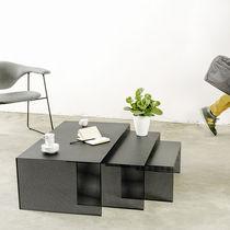 Table gigogne contemporaine / en acier / rectangulaire