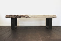 Banc contemporain / en bois / en acier / résidentiel