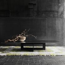 Table basse contemporaine / en acier / rectangulaire / professionnelle