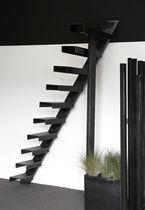 Escalier droit / marche en métal / structure en métal / sans contremarche