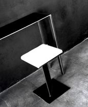 Tabouret contemporain / en tissu / en acier / professionnel