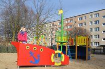 Structure de jeu en HPL / en bois / pour aire de jeux