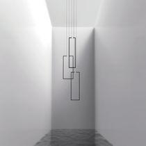 Lustre design minimaliste / en métal laqué / à LED