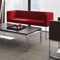 Canapé contemporain / en cuir / en métal / à usage professionnel