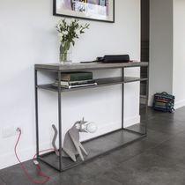 Console contemporaine / en métal / en béton / rectangulaire